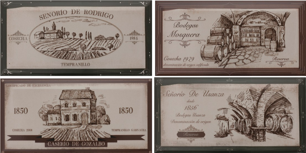 Hueso Wine Labels D 10.00 20.00