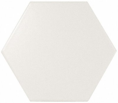 Испанская плитка Equipe Scale Scale Hexagon White Matt 10.7 12.4